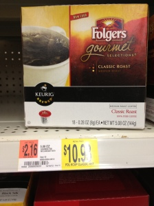Folgers $2.16 per ounce, $34.56 pound