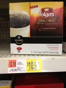 Folgers $2.16 per ounce, $34.56 pound